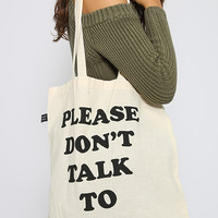 Lazy Oaf - Don't Talk To Me Tote Bag - Print