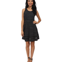 Splendid Terry with Lattice Trim Dress Heather Black - 6pm.com