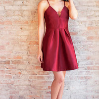 Nicolette Dress - Burgundy