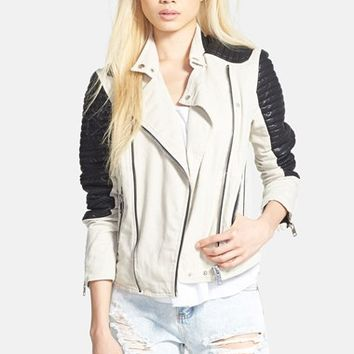 Women's BLANKNYC 'Goodbye, Sally' Moto Jacket,