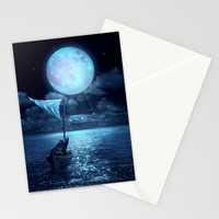 Set Adrift Stationery Cards by Soaring Anchor Designs | Society6