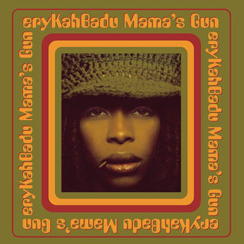 Erykah Badu - Mamma's Gun - Poster/Print with Black Card Frame and Mount (21cm x 21cm)