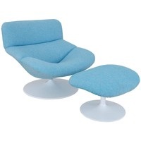 1960s Easy Chair and Footstool by Artifort