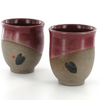 Valentine's Gift / Pottery Beaker Tumbler / Red Pottery Cup / Pottery Mug  / Wine Tumbler