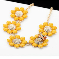 Sunflower and Bee Cute Necklace 091