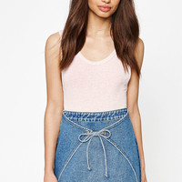 Kendall and Kylie Denim Grommet Tie Skirt at PacSun.com