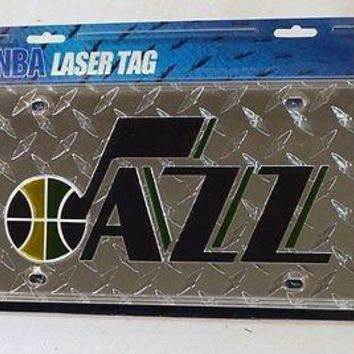 Utah Jazz NBA Laser Cut Diamond Plate License