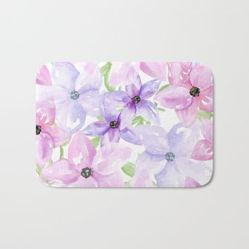 clematis vines Bath Mat by Sylvia Cook Photography