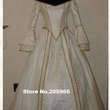 Custom Made Victorian Bridal Civil War Steampunk Ball Gown Dress/Wedding&Bridal Dress/Party Costume