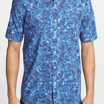 Men's Bugatchi Shaped Fit Floral Print Sport Shirt