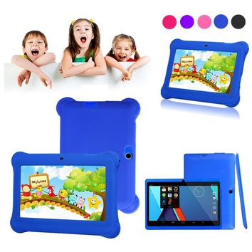 "Kids  Mini Learning machine Tablet PC 7"" Android 4.4 Case Bundle Dual Camera 1.2Ghz Wi-Fi Bonus Items Educational toys"