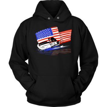 USA Jet Ski American National Flag U.S.A Water Sports hoodie