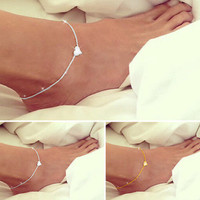 Beautiful Summer Heart Charm Foot Anklet Chain