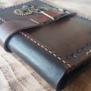 Steampunk Passport  Cover Brown Leather   Travel Holder ,Passport Wallet, Leather Passport Wallet, travel wallet, passport case, document