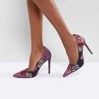 ASOS PUZZLE Embroidered High Heels at asos.com