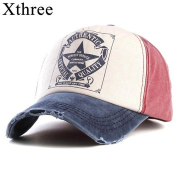 Xthree retro baseball cap women fitted cap snapback hats for men hip hop casual cap cheap hats casquette gorras bone