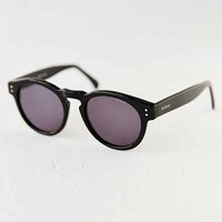 KOMONO CRAFTED Clement Black Round Sunglasses- Black One