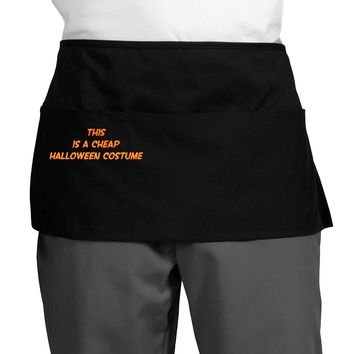 This is a Cheap Costume Dark Adult Mini Waist Apron