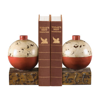 Sterling Pair Of Fishing Bobber Bookends