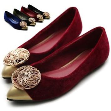 ollio Womens Ballet Comfort Luxurious Accent Multi Colored Shoes Flats