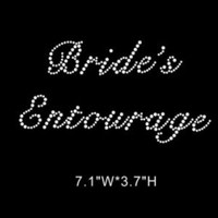 Brides Entourage - Rhinestone hot fix iron on transfer - DIY bridal applique hotfix for shirts t-shirts tees - custom bridal -wedding