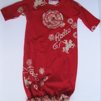 Cowgirl Sass Rodeo Newborn Baby Cowgirl, Western Girl Gown