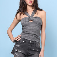 Free People Beach Cruiser Top - Charcoal