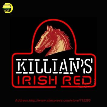 George Killians Irish Red Horse Head Neon Sign