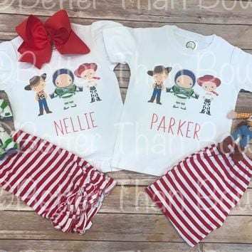 Matching Sibling Personalized Dixie Buzz Woody Trio Design with Option To Buy Separates-Semi RTS