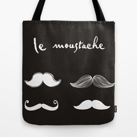 le mustache Tote Bag by hardkitty