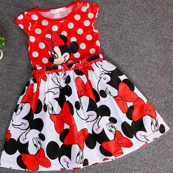 Minnie Mouse Polka Dot Casual Dress