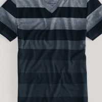 AEO Men's Ombre Stripe V-neck Tee