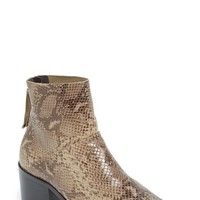 Women's Topshop 'Midnight' Snake Embossed Ankle Boot,