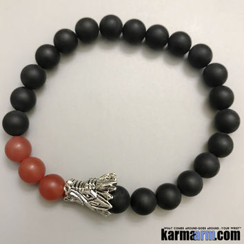 SUCCESS: Black Onyx | Red Agate | Dragon | Yoga Chakra Bracelet