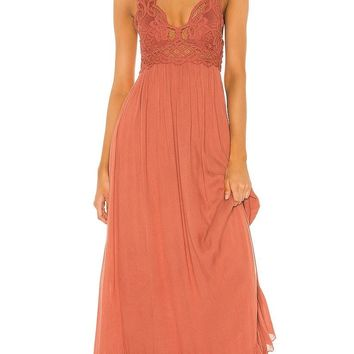 Free People Adella Maxi Dress Copper