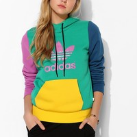 adidas X UO Trefoil Colorblock Pullover Hoodie Sweatshirt - Urban Outfitters