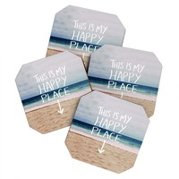 Leah Flores Happy Place X Beach Coaster Set