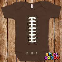 Funny Baby Football One Piece Bodysuit Laces Out Sports American Ball Infant Clothes Romper Joke Baby Boy Girl Cute Unique Shower Gift