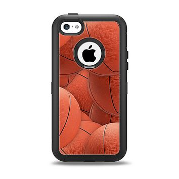 The Basketball Overlay Apple iPhone 5c Otterbox Defender Case Skin Set
