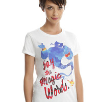 Disney Aladdin Genie Magic Words Girls T-Shirt