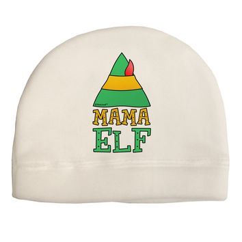Matching Christmas Design - Elf Family - Mama Elf Adult Fleece Beanie Cap Hat