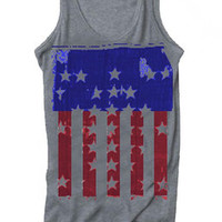 Rags & Thread Graphic Spangled Color Racerback Tank