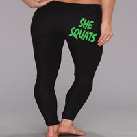 She Squats. womens black Workout Leggings. Fitness Pants. Gym Pants. Cross Training Pants. Gym Leggings. Yoga Leggings. Compression Pants.