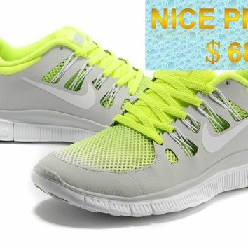 2018 Original Nike Free 50+ Breeze Volt Pure Platinum 579960 710 sneaker