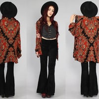 Vtg 90s Paisley Ethnic Draped Boho Hippie Shirt by theindustry