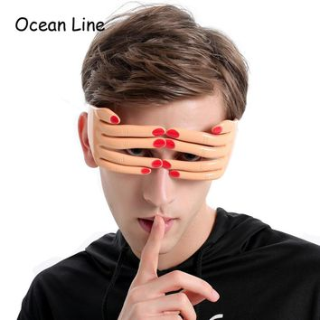 Funny Finger Shaped Halloween Mask Decoration Party Costume Favors Adults Photo Booth Props Glasses Accessories Supplies