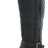 Not Rated Naughty Monkey Women's Quilted Riding Boots Moto