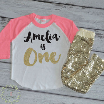1st Birthday Shirt Personalized First And Sequin