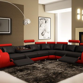 Divani Casa 4087 - Modern Leather Sectional Sofa