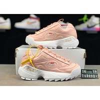 FILA Disruptor 2019 new thick-soled retro women's sneakers Pink